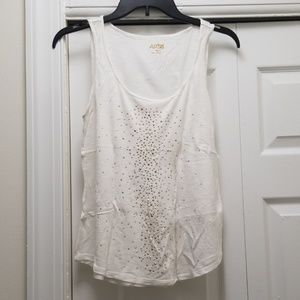 APT. 9 White Bedazzled Tank